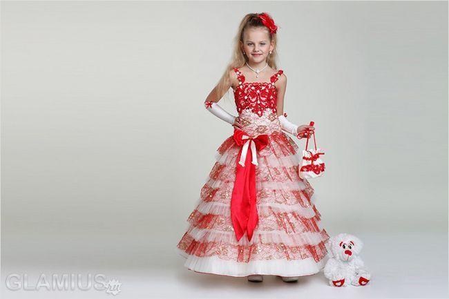 Дитячі новорічні сукні 2016