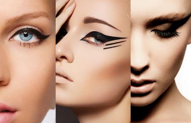Як намалювати красиві стрілки на очах