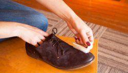 Як почистити замшеве взуття?