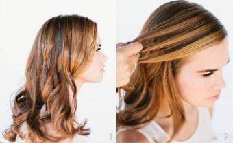 Як заплести красиву косу-водоспад крок 1-2