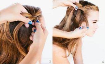 Як заплести красиву косу-водоспад крок 3-4