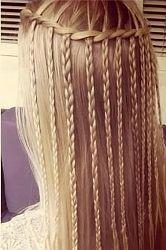 зачіска водоспад