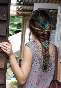 різнобарвна коса «риб`ячий хвіст»