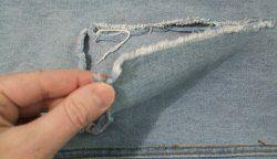 Як заштопати дірку на джинсах?