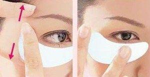 Колагенова маска для шкіри навколо очей