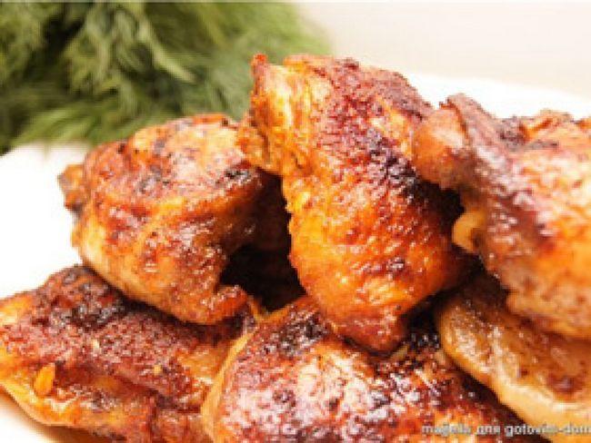 Курячі стегенця в маринаді рецепт приготування