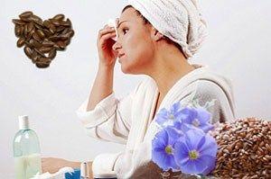 Лікувальні маски з насіння льону для обличчя та волосся