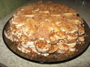 Торт з пряників і бананів