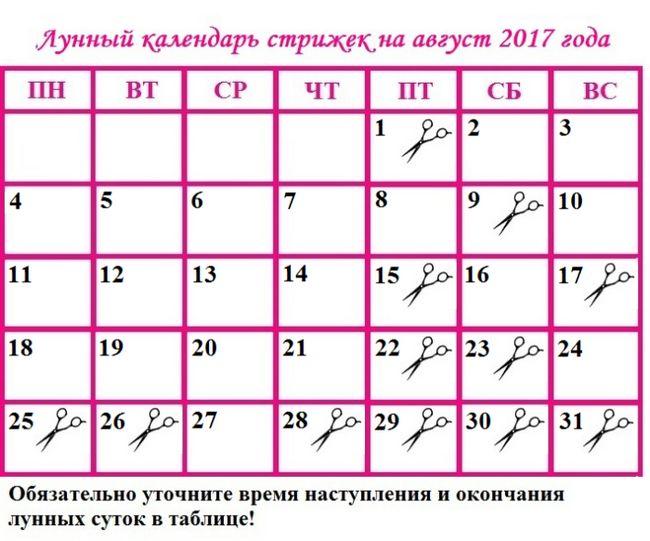Місячний календар стрижок на грудень 2017 року: сприятливі дні