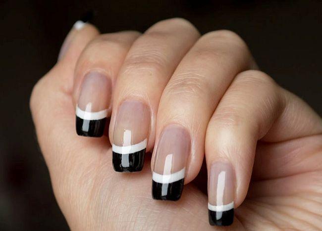 Манікюр - чорно-білий френч. Красиві і модні ідеї дизайну французького манікюру нігтів на довгі, короткі, круглі і квадратні нігті