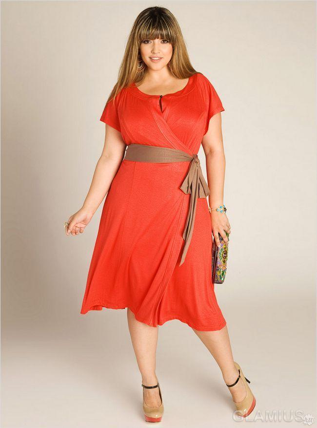 Гарне плаття для повних вдалого фасону