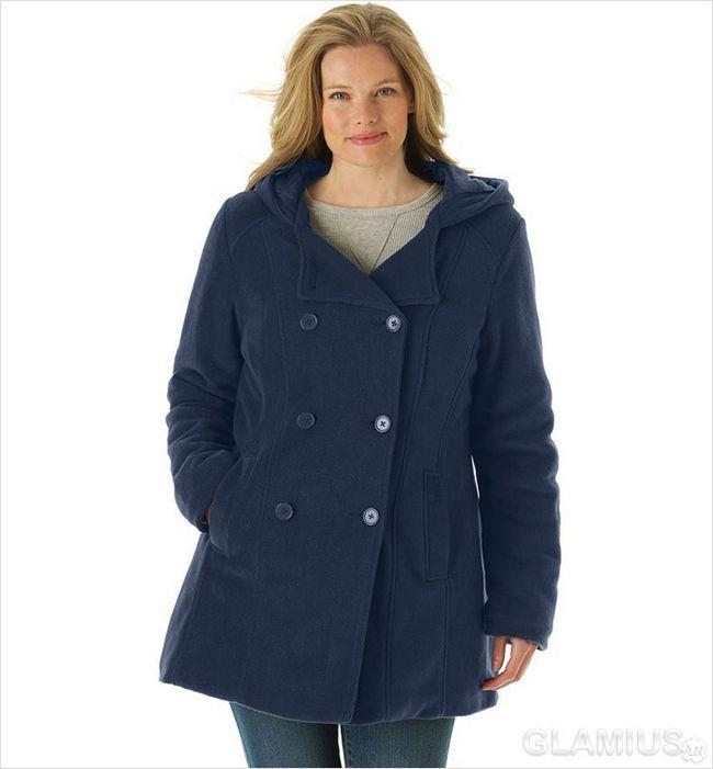 Коротке пальто для повних