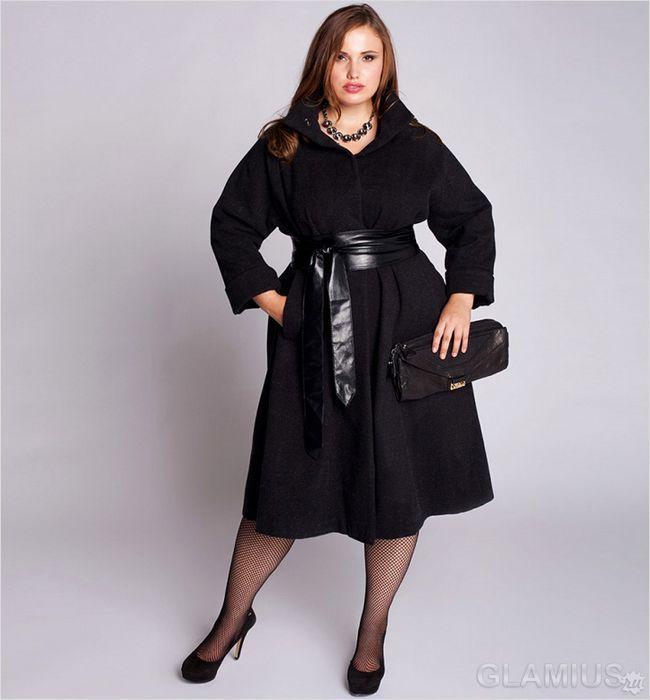 Пальто з розкльошені подолом
