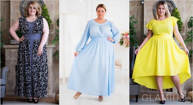 Модні сукні для повних
