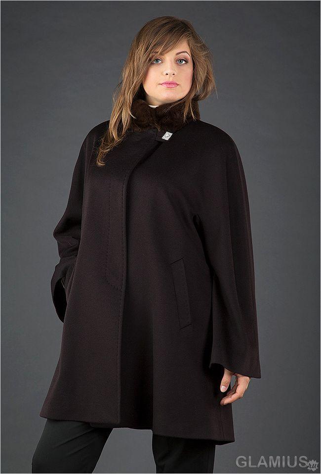 Вільне пальто з коміром-стійкою