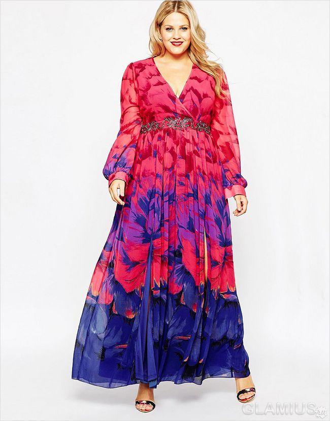 Яскраве плаття в підлогу