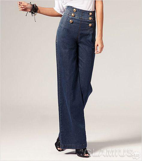 Модні джинси із завищеною талією