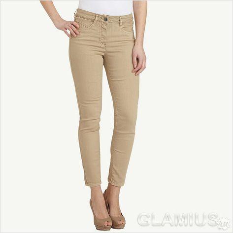 Бежеві укорочені жіночі джинси 2013