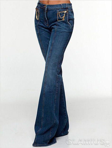 Модні жіночі джинси-кльош