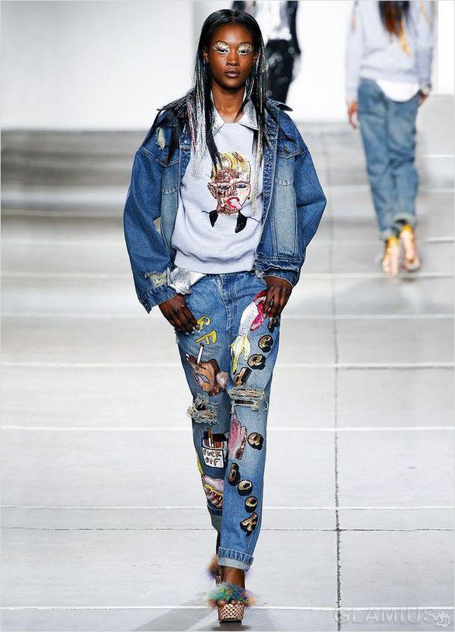Принт на джинсах