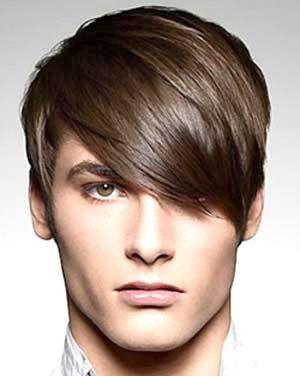 зачіска з чубком