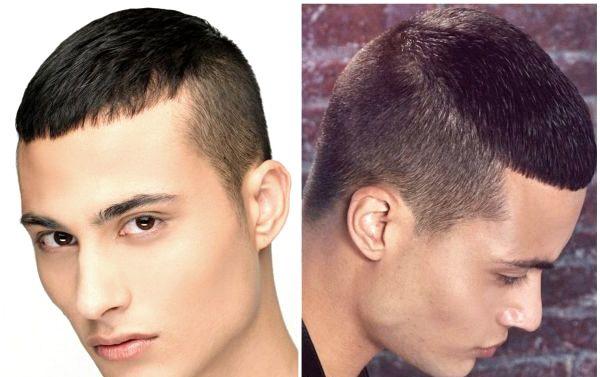 Короткі або виголені скроні на короткому волоссі