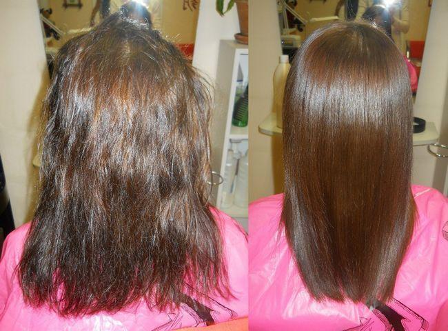 кератіновие випрямлення волосся фото до і после1