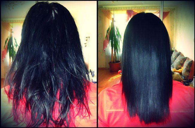 кератіновие випрямлення волосся фото до і после3