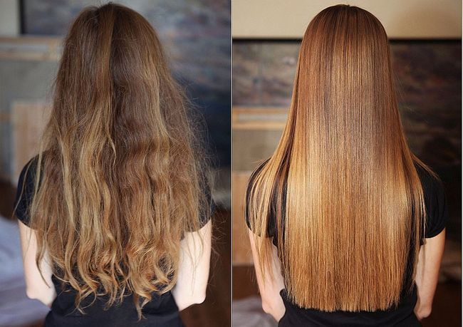 кератіновие випрямлення волосся фото до і после4