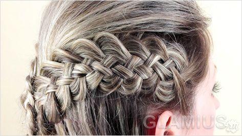 Тонка четирехпрядная коса