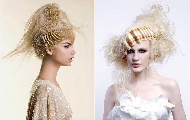Фантазійні гофровані зачіски