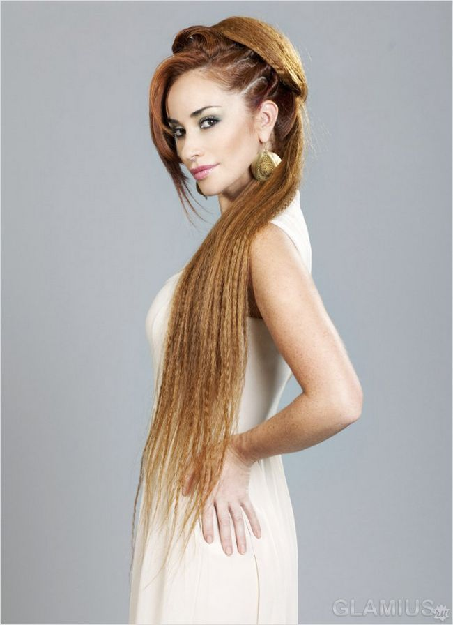 Зачіска для дуже довгого волосся