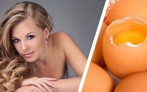 Яйце для оздоровлення волосся