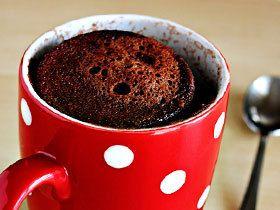 Шоколадний кекс за 5 хвилин в мікрохвильовці, рецепт з фото