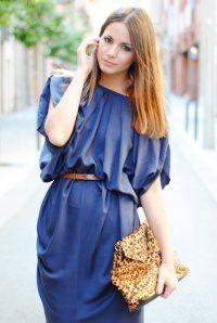 Поради підбору макіяжу для синього сукні