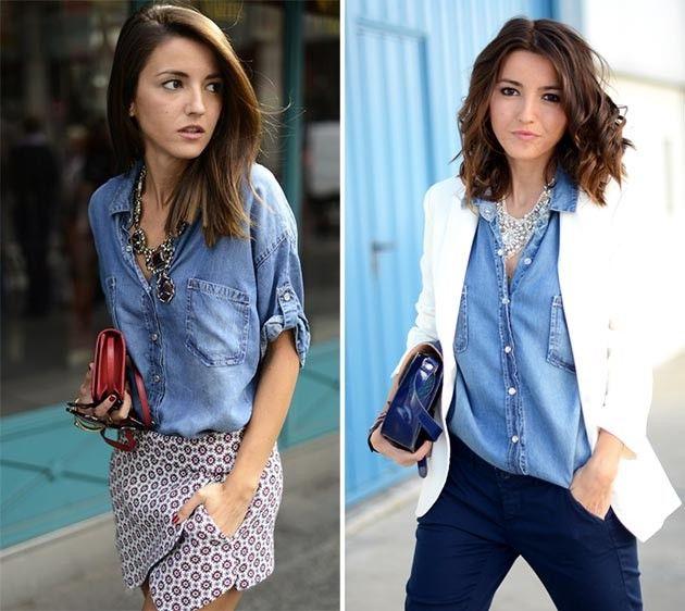 Зручна джинсова сорочка