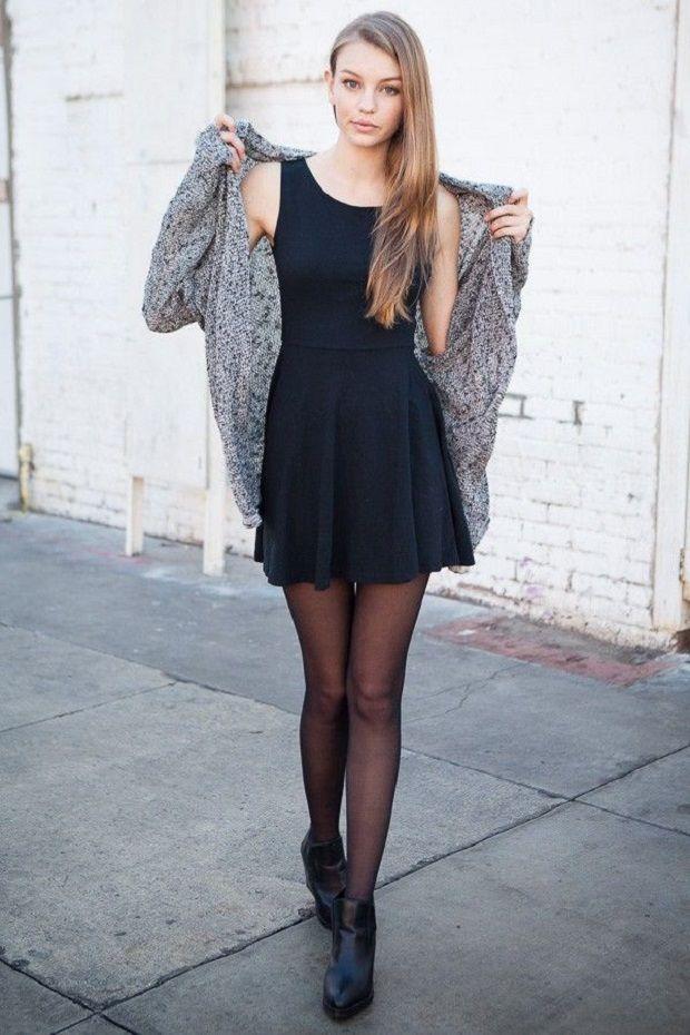 Легке плаття з теплим кардиганом